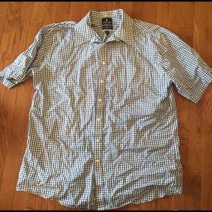 Blue gingham short sleeve top